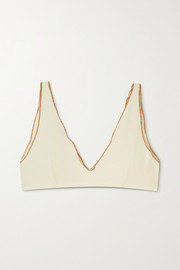 Baserange + NET SUSTAIN Pam ribbed organic cotton-blend soft-cup bra