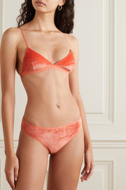 Baserange + NET SUSTAIN Mississippi velour soft-cup triangle bra
