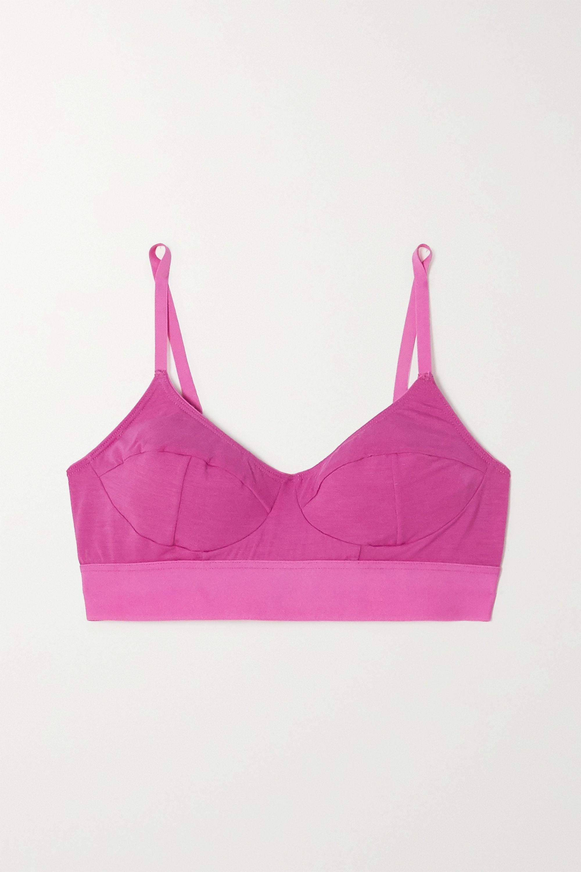 Baserange + NET SUSTAIN stretch-bamboo soft-cup bra