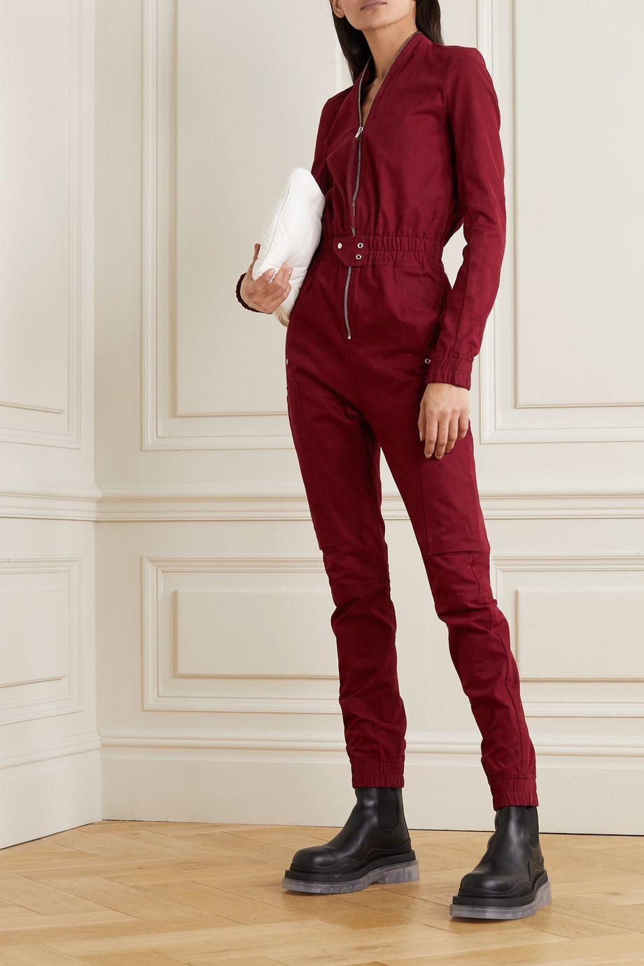 Rick Owens Tuta cotton-twill jumpsuit