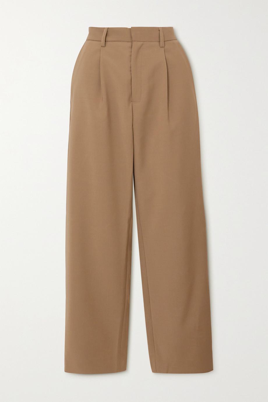 Deveaux Pantalon droit tissé à plis Nicola