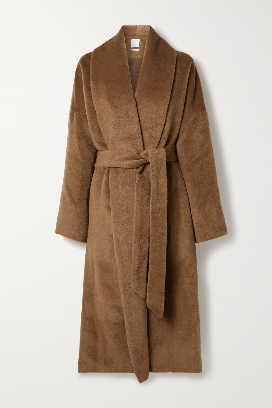 Deveaux Syd belted alpaca and wool-blend felt coat