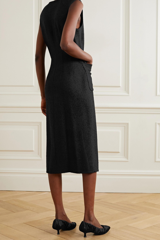 Deveaux Alicia tweed midi dress