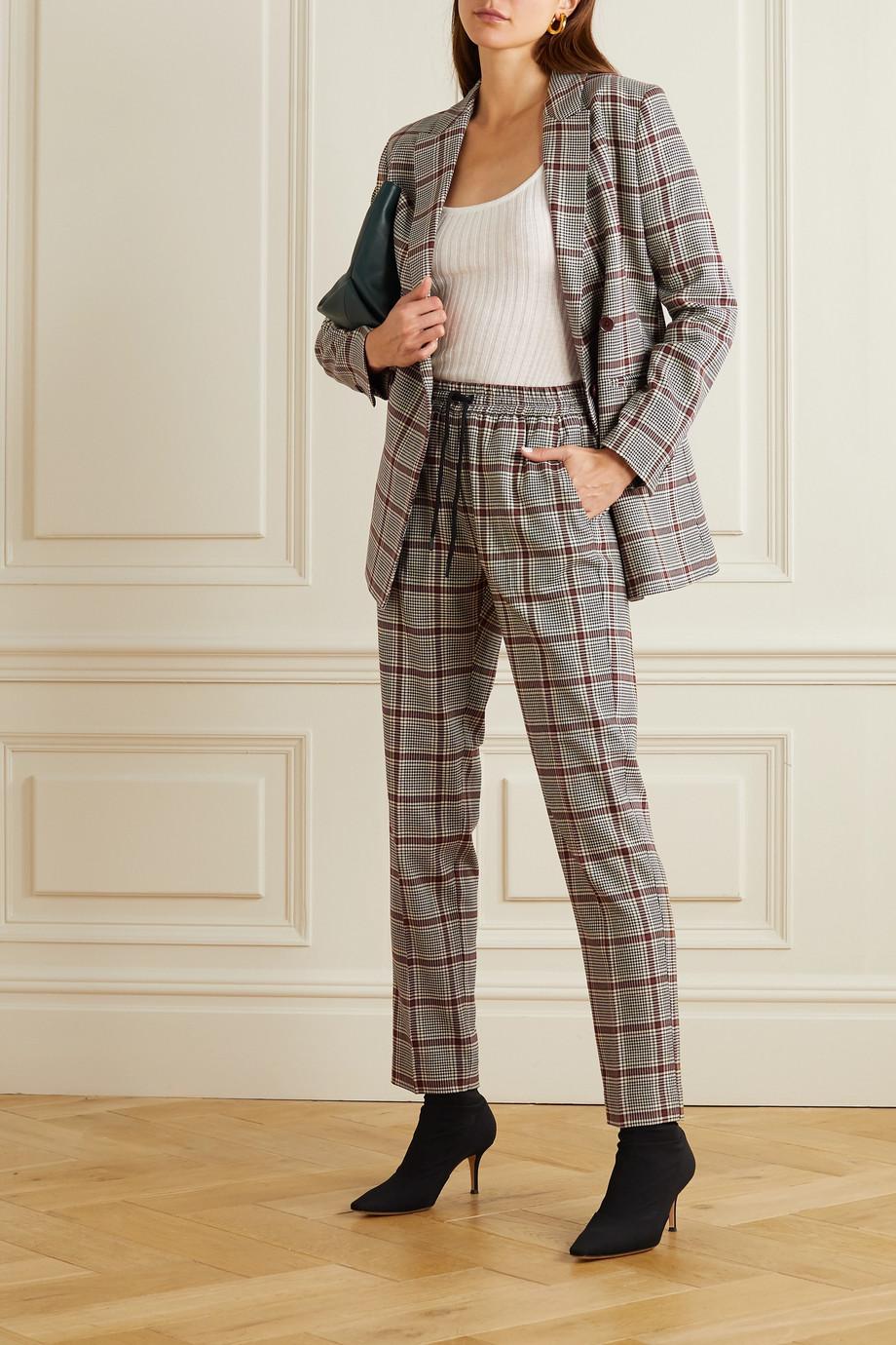 MUNTHE Pantalon fuselé tissé à carreaux prince-de-galles