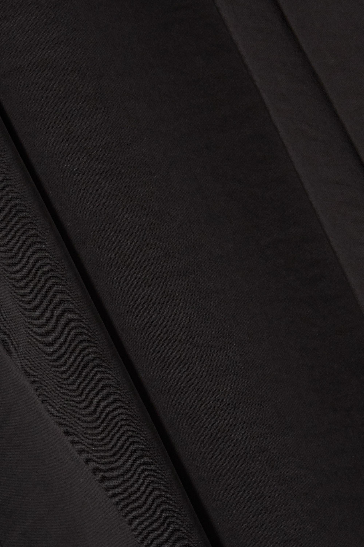 Black Belted Washed-satin Midi Shirt Dress | Munthe