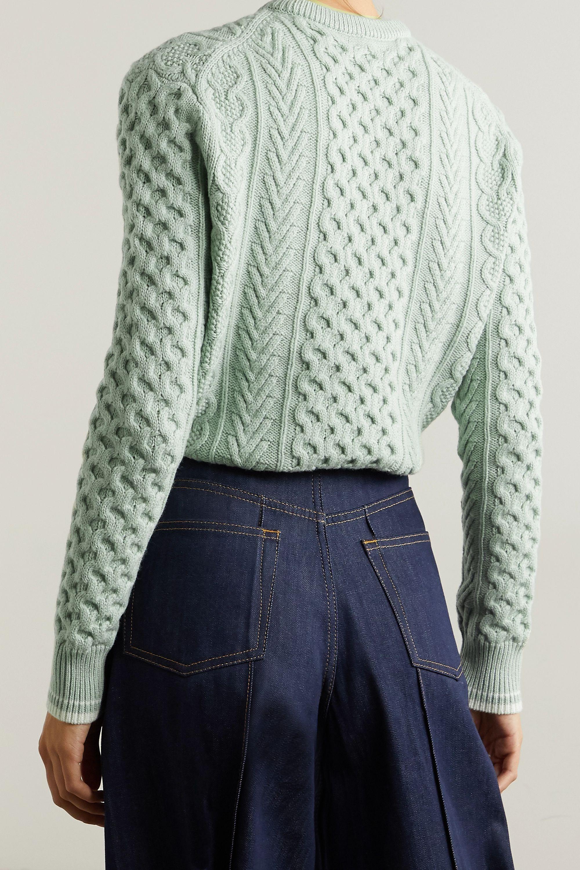 Rosie Assoulin Thousand in One Ways 多种穿法绞花针织羊毛棉质混纺短款毛衣