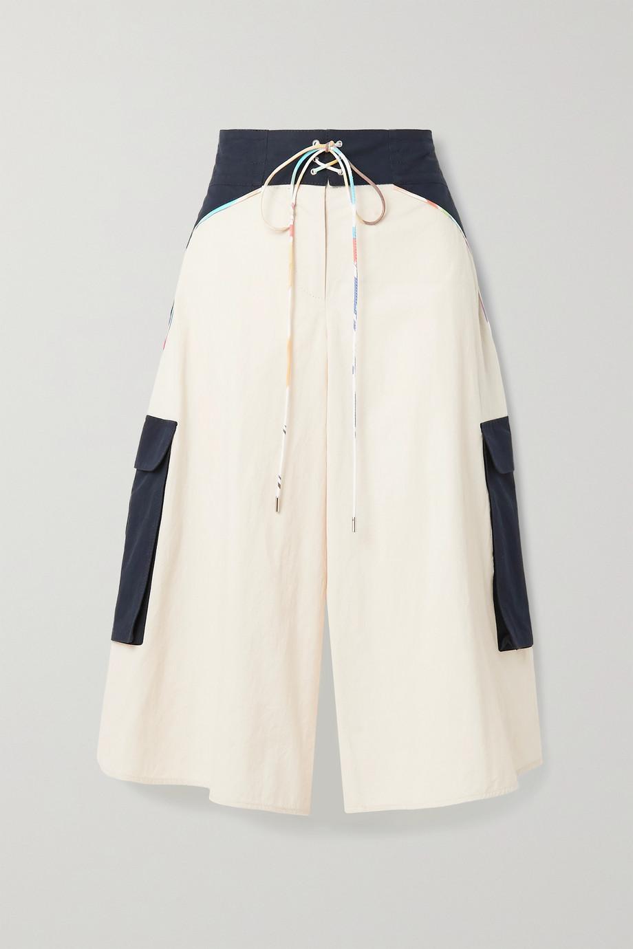 Rosie Assoulin Surf Culottes aus Baumwollpopeline mit Schnürung