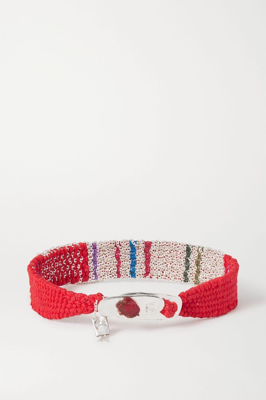 Katia Alpha Bracelet en corde tressée et argent