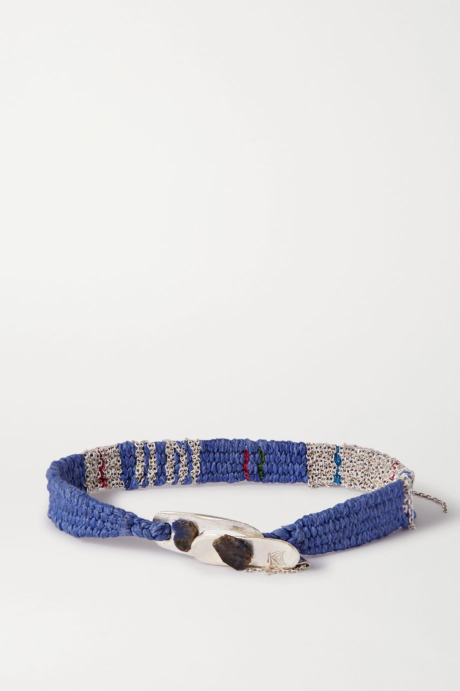 Katia Alpha Woven cord and silver bracelet