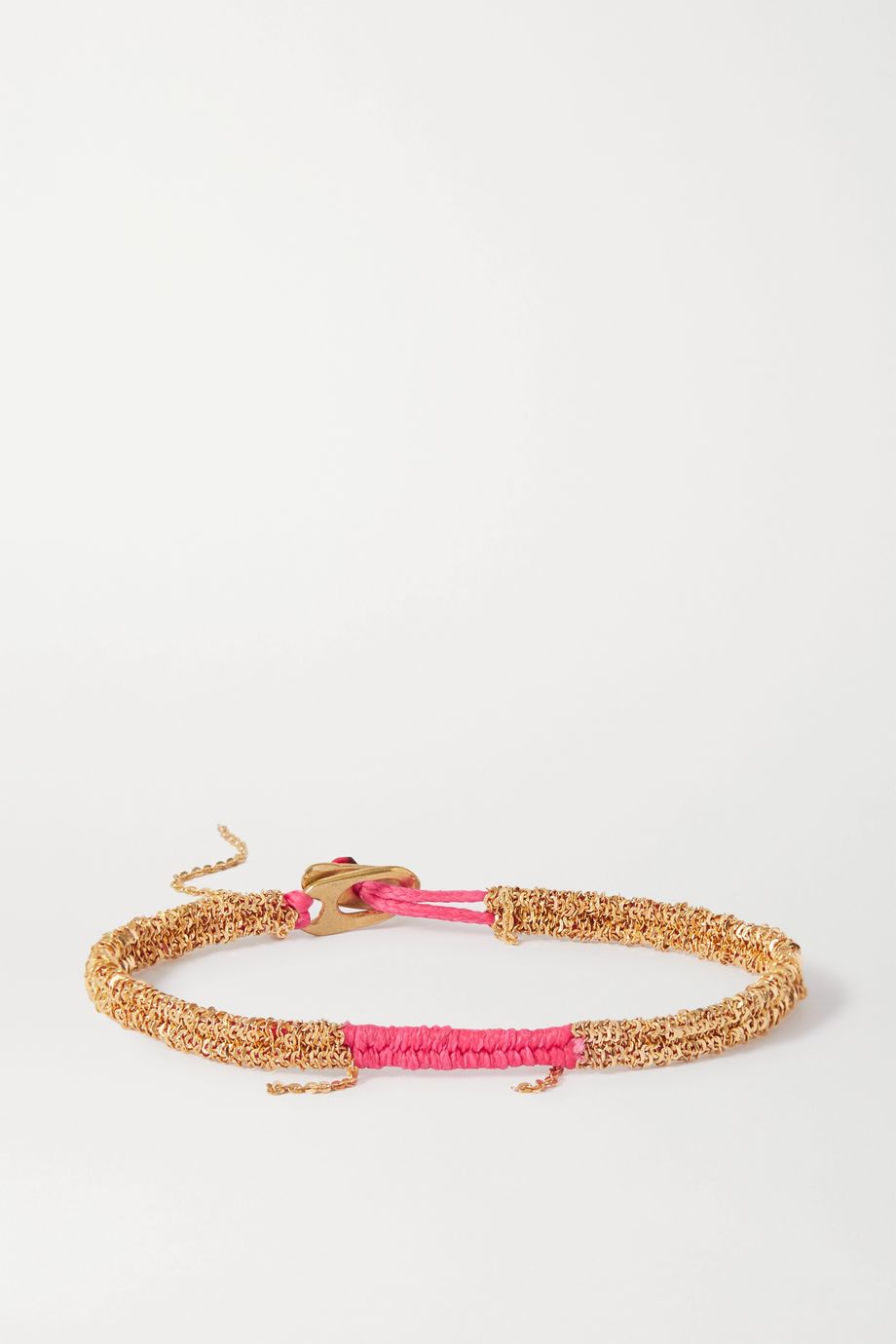Katia Alpha Woven cord and gold vermeil bracelet