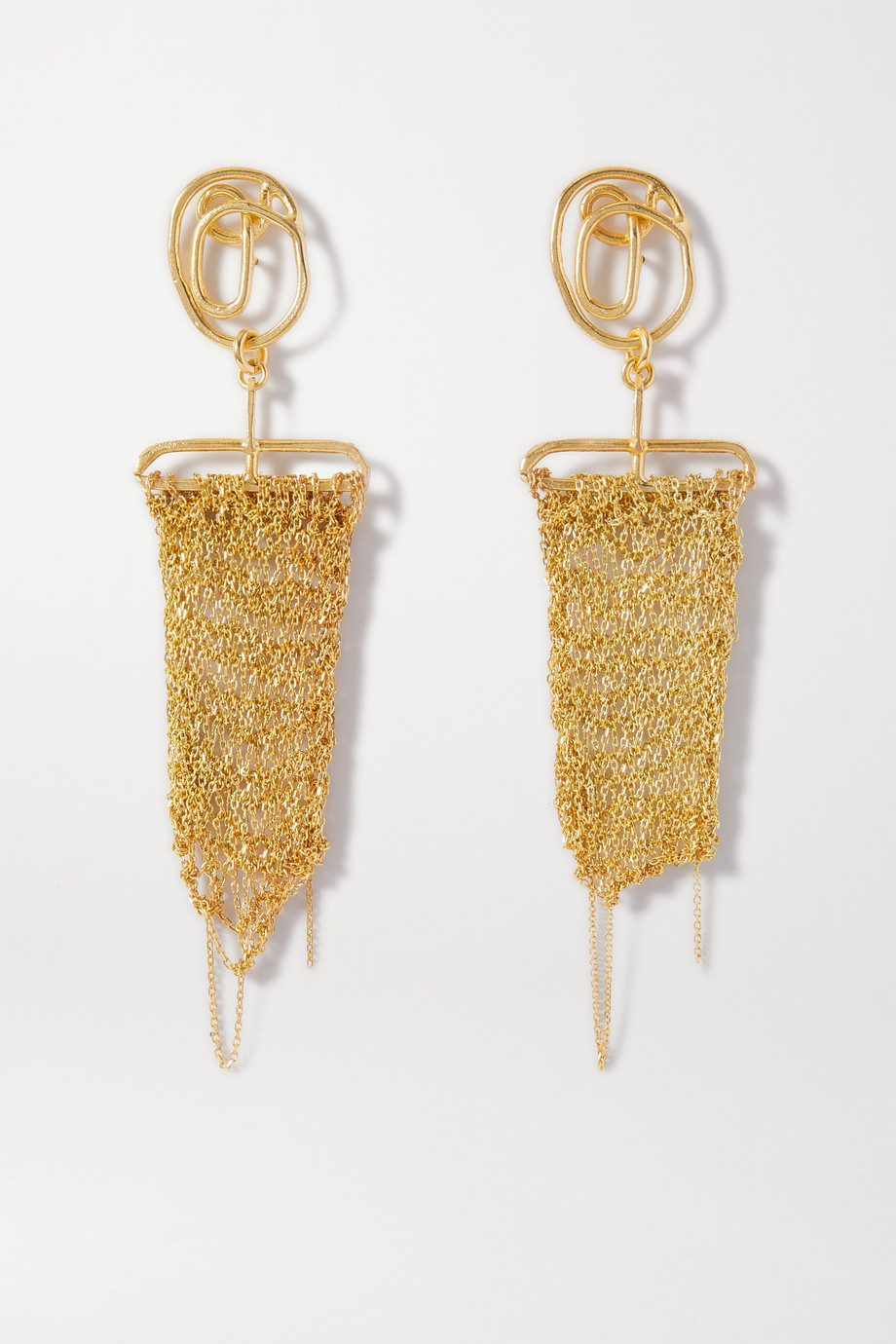 Katia Alpha Gold vermeil earrings
