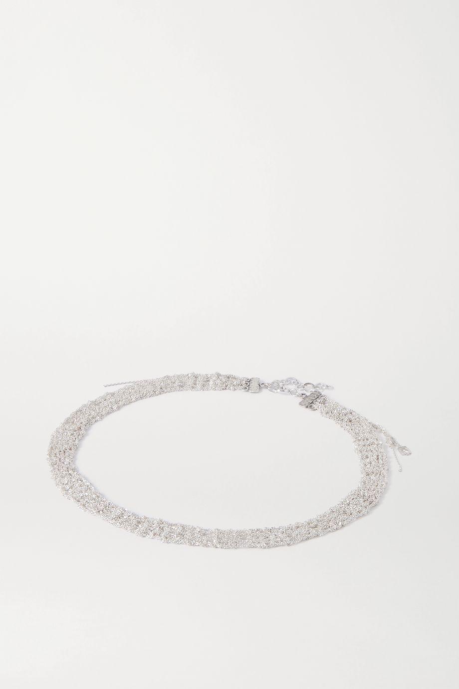 Katia Alpha Crocheted silver choker
