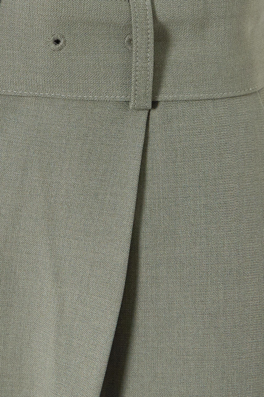 Army Green Elvira Pleated Crepe Straight-leg Pants | Frankie Shop
