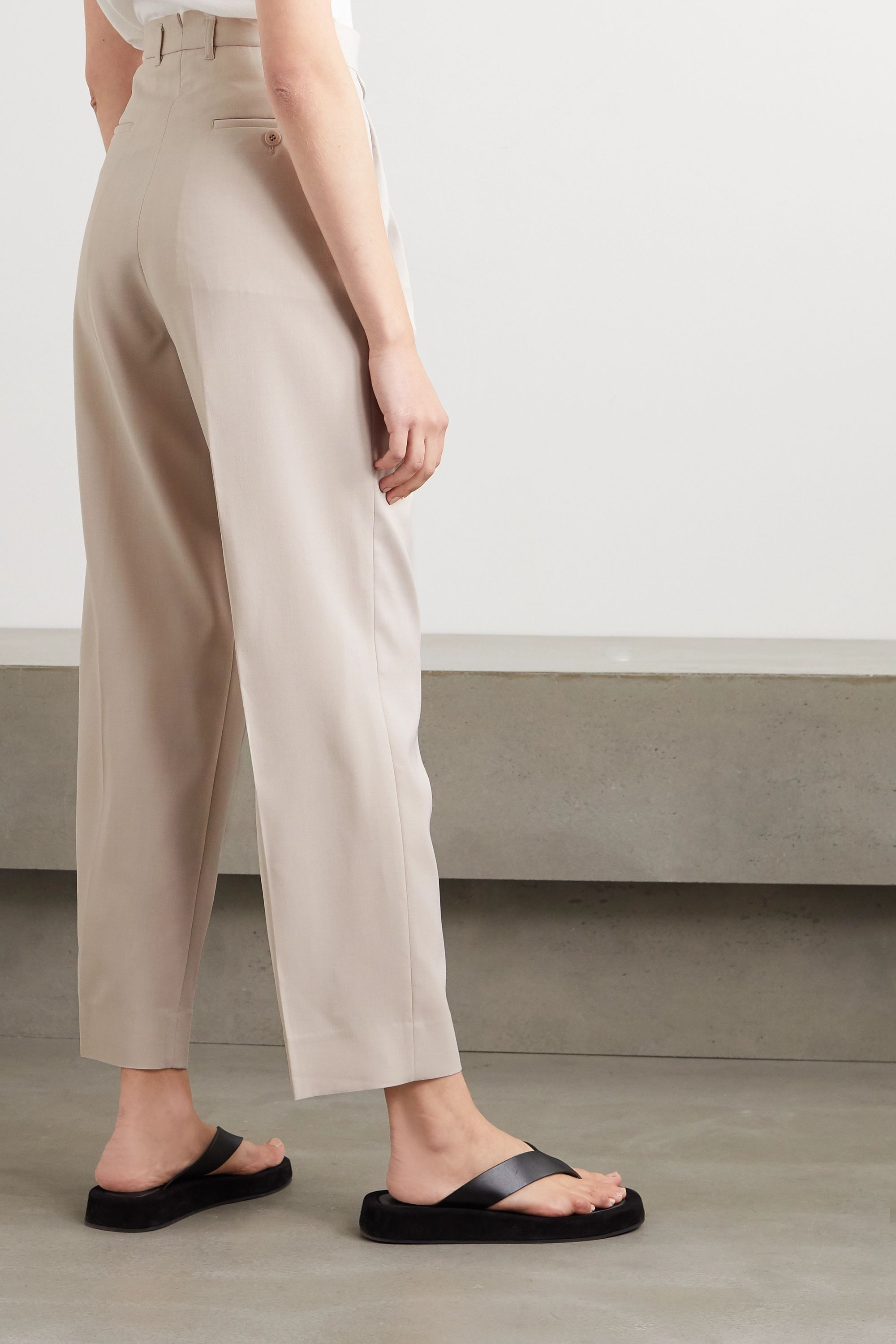 Frankie Shop Pernille woven straight-leg pants