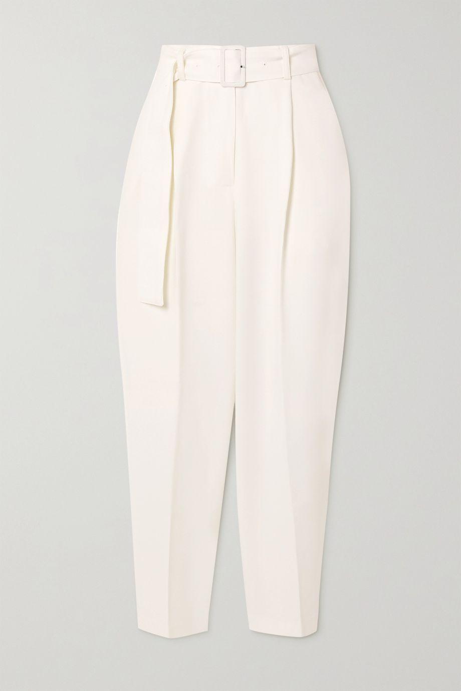 Frankie Shop Elvira belted woven pants