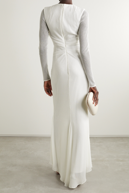 Talbot Runhof Robe aus Lurex® mit Raffungen