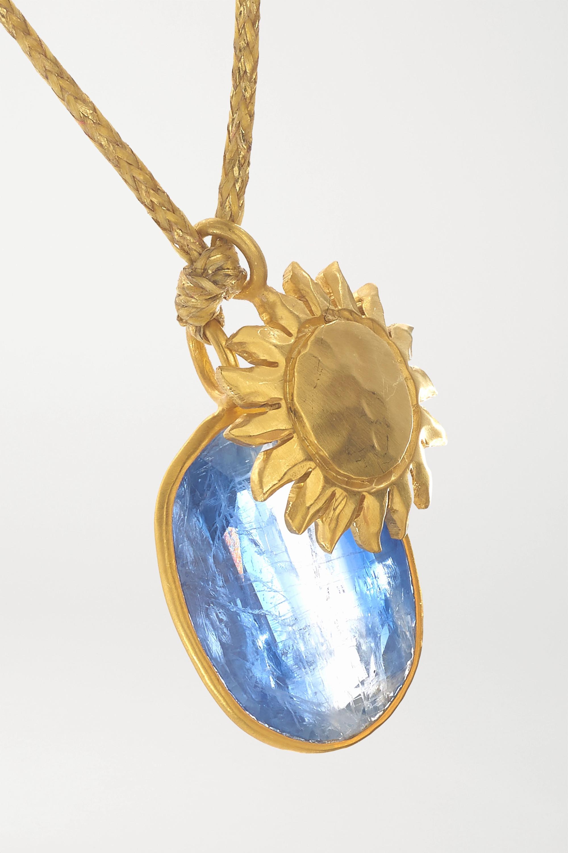Pippa Small 18-karat gold kyanite necklace