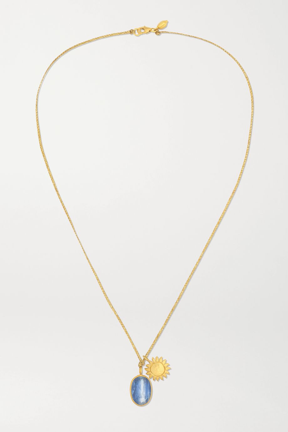 Pippa Small 18-karat gold kyanite necklace