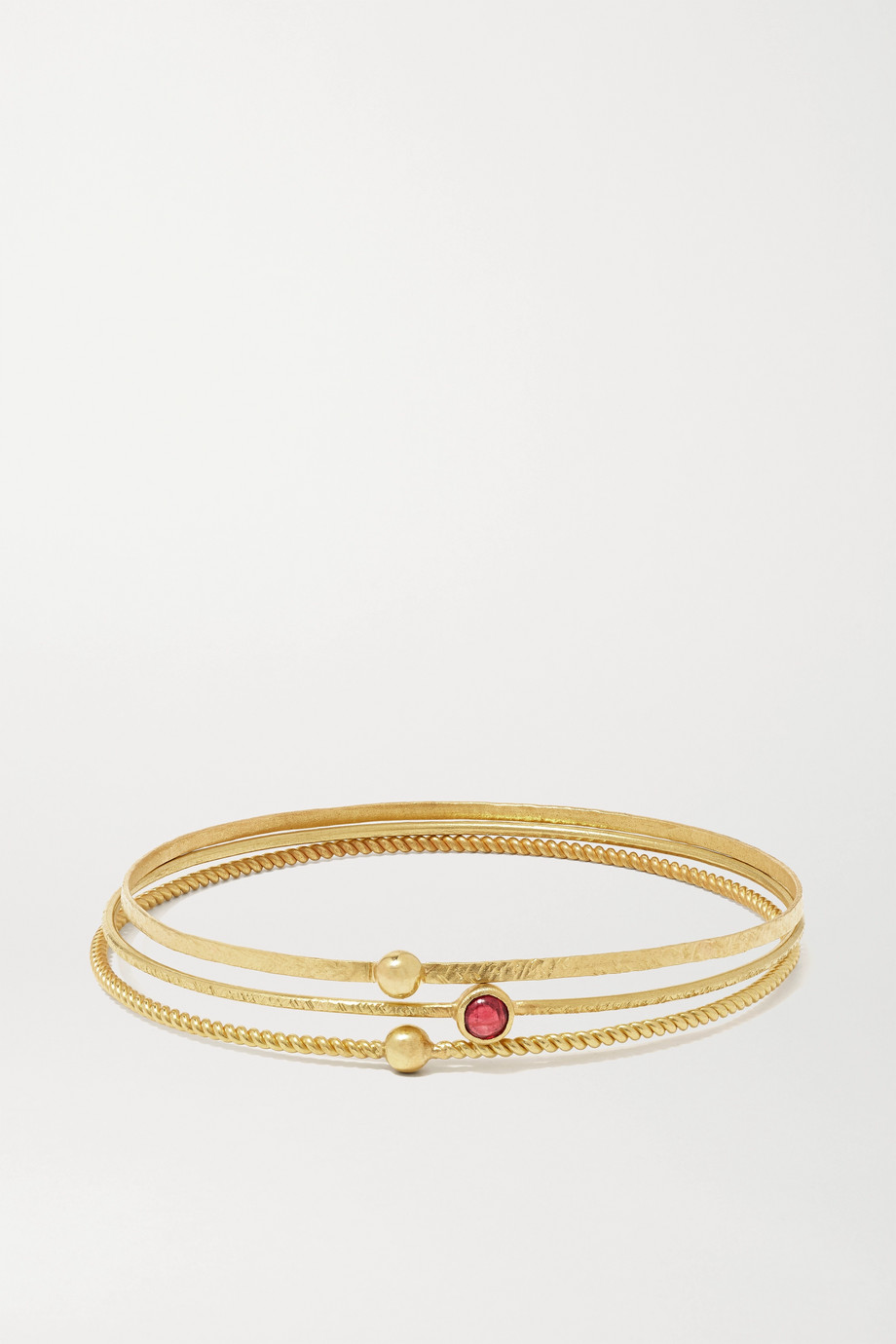 Pippa Small Set de trois bracelets en or 18 carats et spinelle - NET SUSTAIN