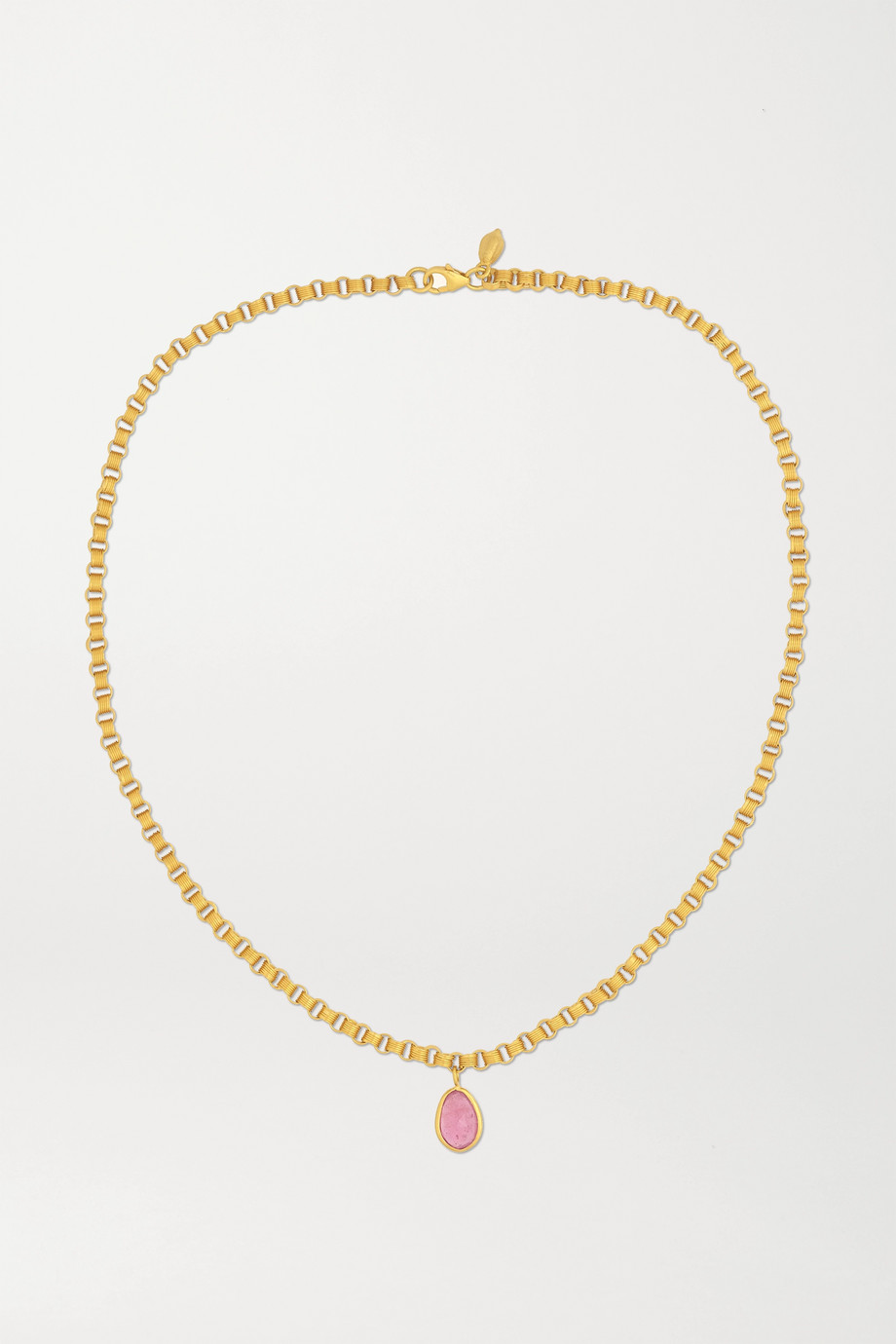 Pippa Small 18-karat gold ruby necklace