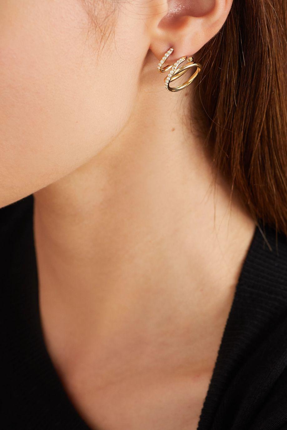 Completedworks Flow Ohrringe aus Gold-Vermeil mit Topasen