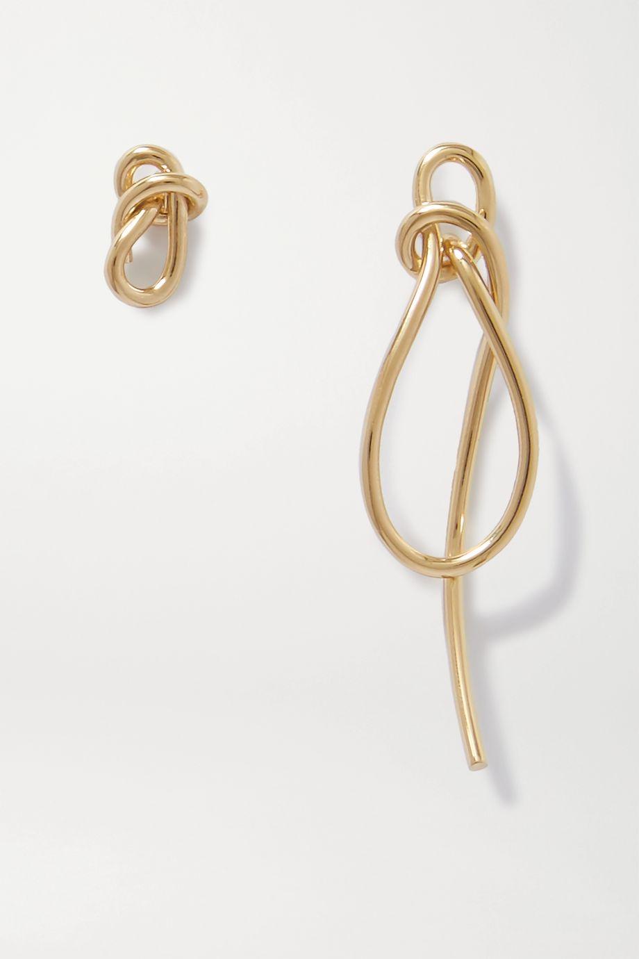 Completedworks Thread Ohrringe aus Gold-Vermeil