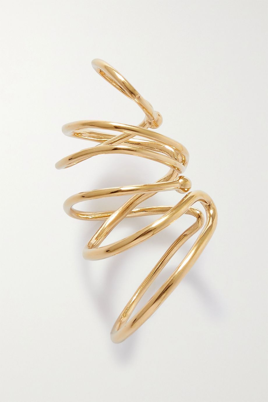 Completedworks Bend In The River Ear Cuff aus Gold-Vermeil