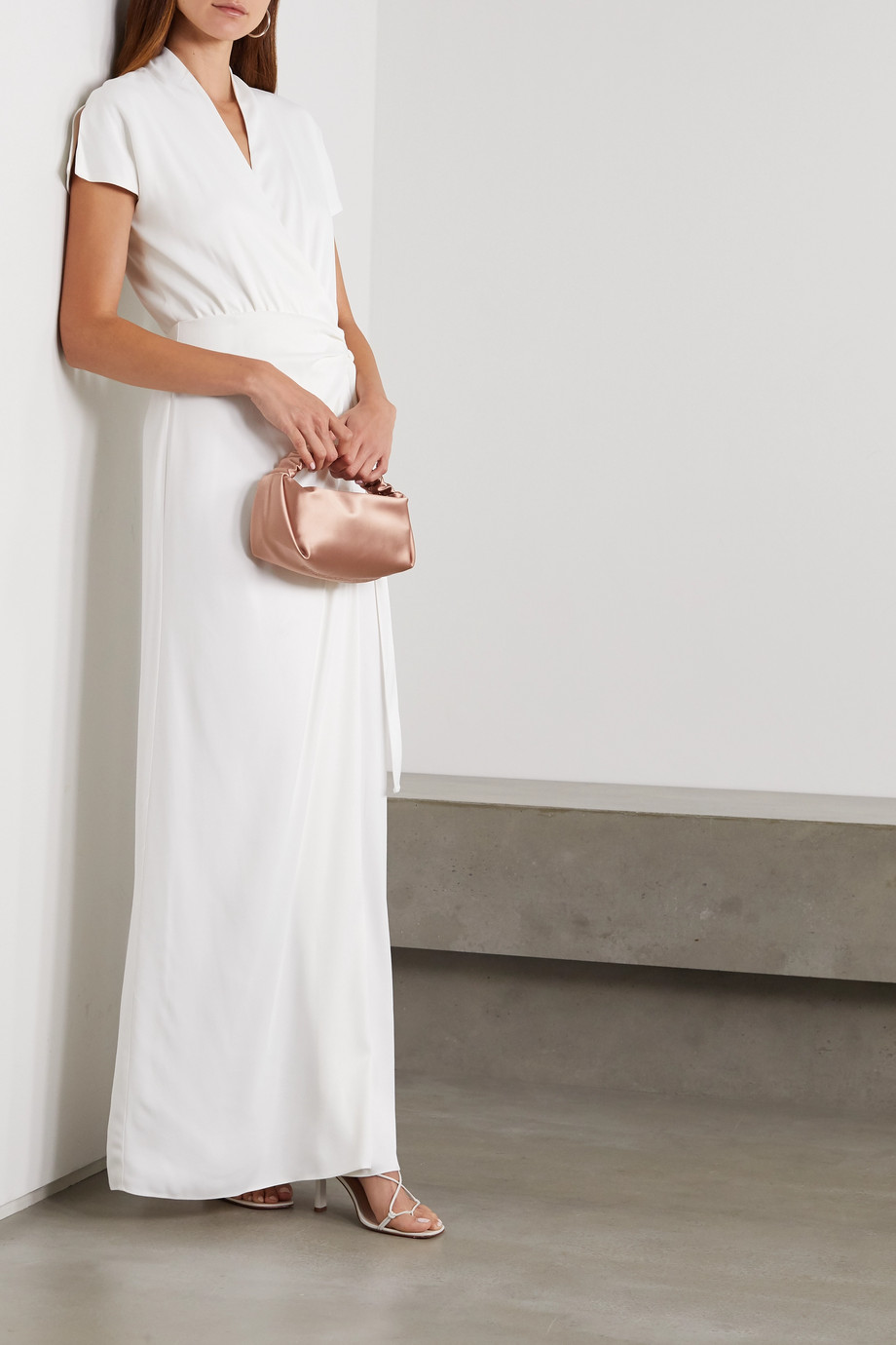 Vanessa Cocchiaro The Lady draped matte-satin wrap gown
