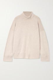 Le Kasha Suede oversized cashmere turtleneck sweater
