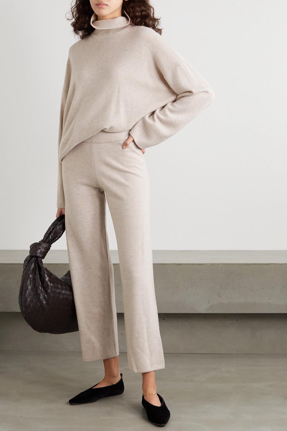 Le Kasha Ottawa cashmere straight-leg pants