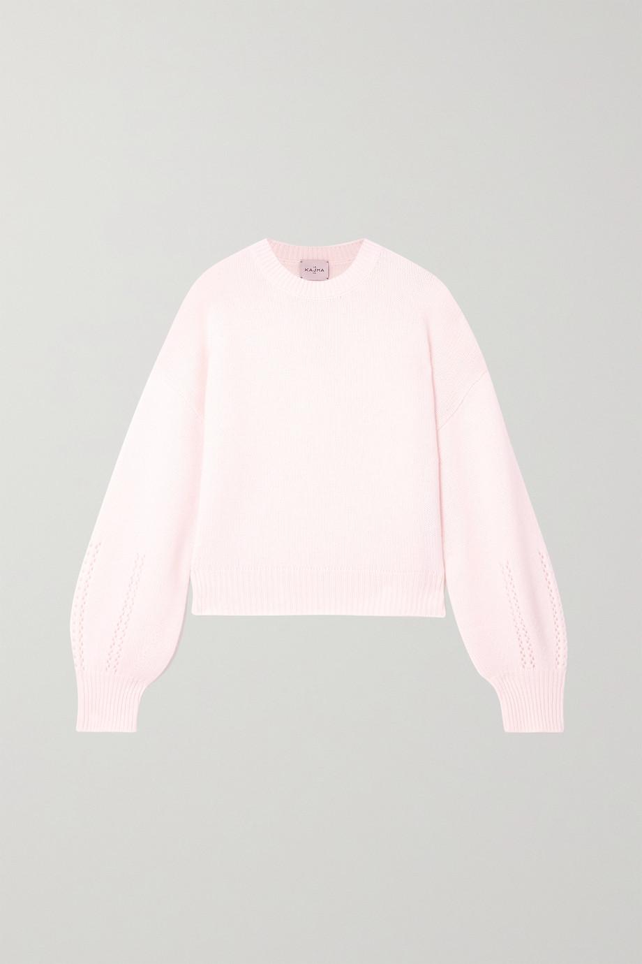 Le Kasha Bergamo pointelle-knit cashmere sweater