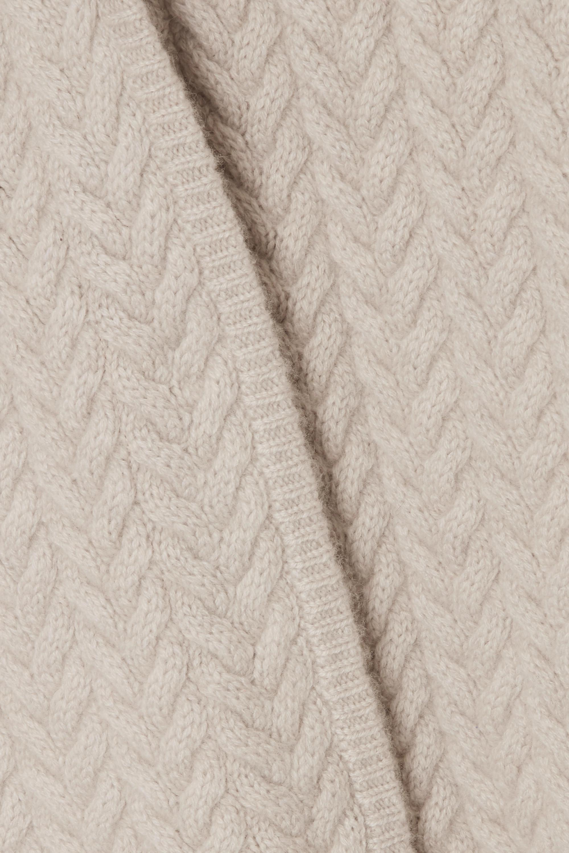 Beige Bilbao Cable-knit Cashmere Cardigan | Le Kasha