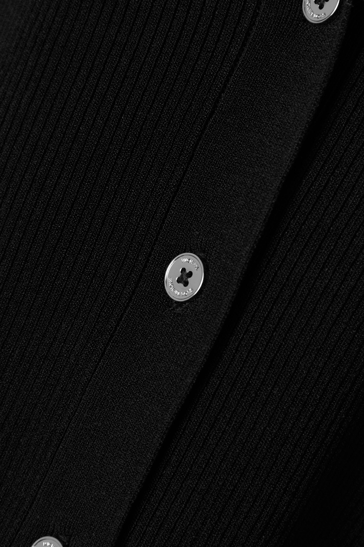 MICHAEL Michael Kors Ruffled ribbed-knit cardigan