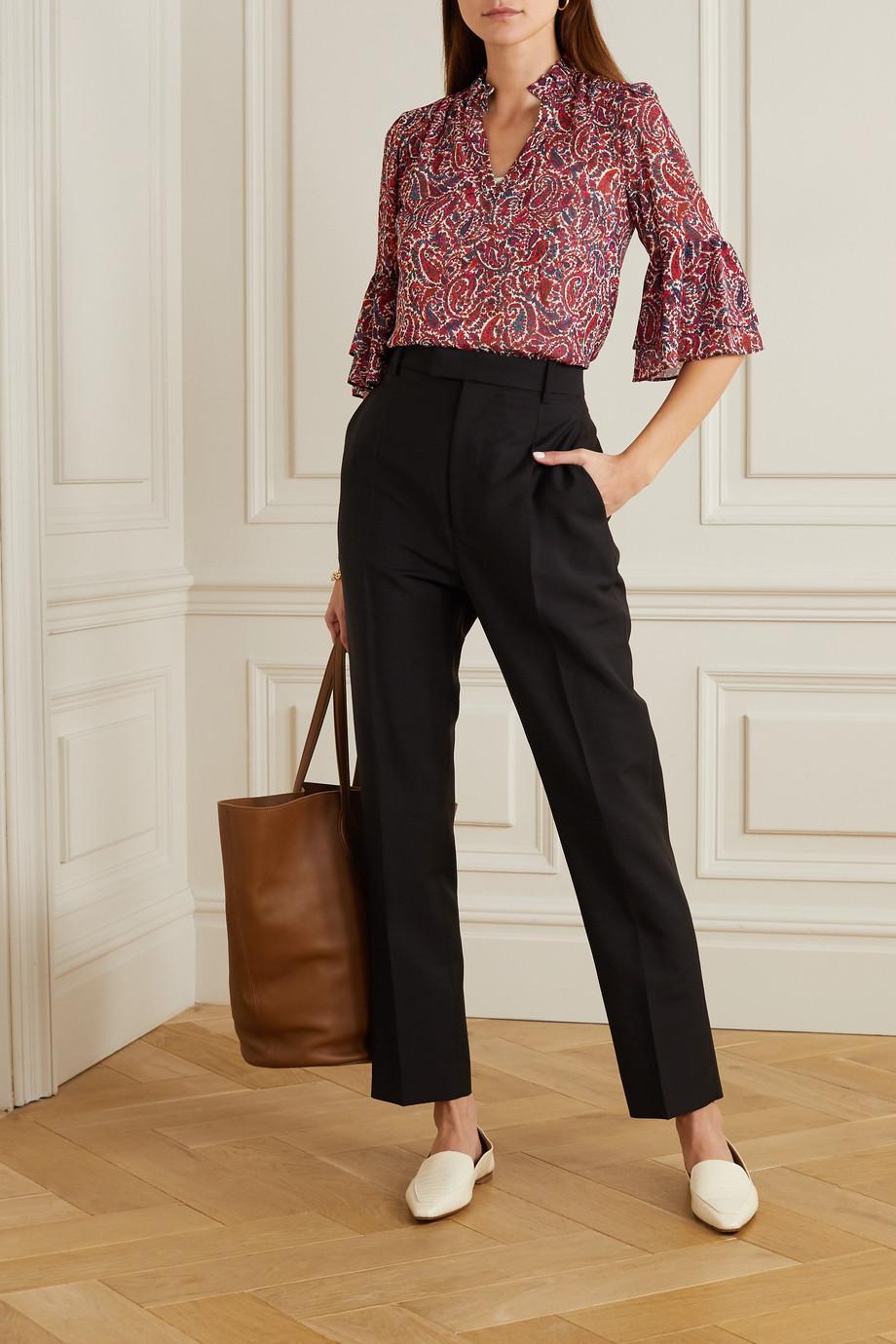 MICHAEL Michael Kors Paisley-print crepe de chine blouse