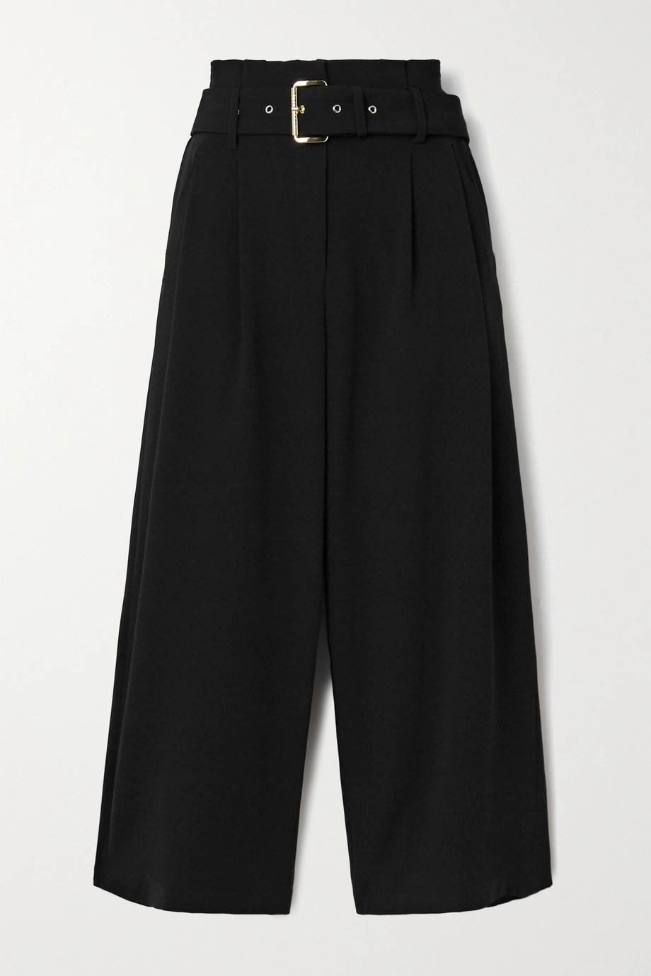 MICHAEL Michael Kors Belted pleated crepe culottes