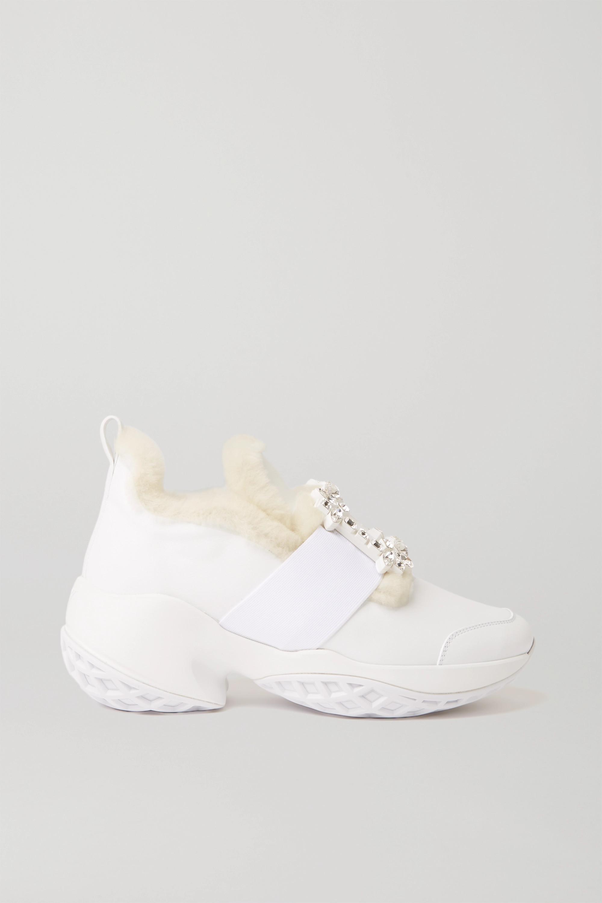 White Viv' Run crystal-embellished