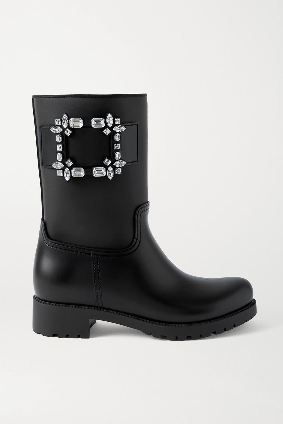 Roger Vivier Tempête Viv' crystal-embellished rubber rain boots