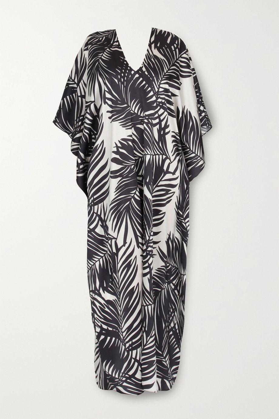 Marie France Van Damme 印花真丝长罩衫裙