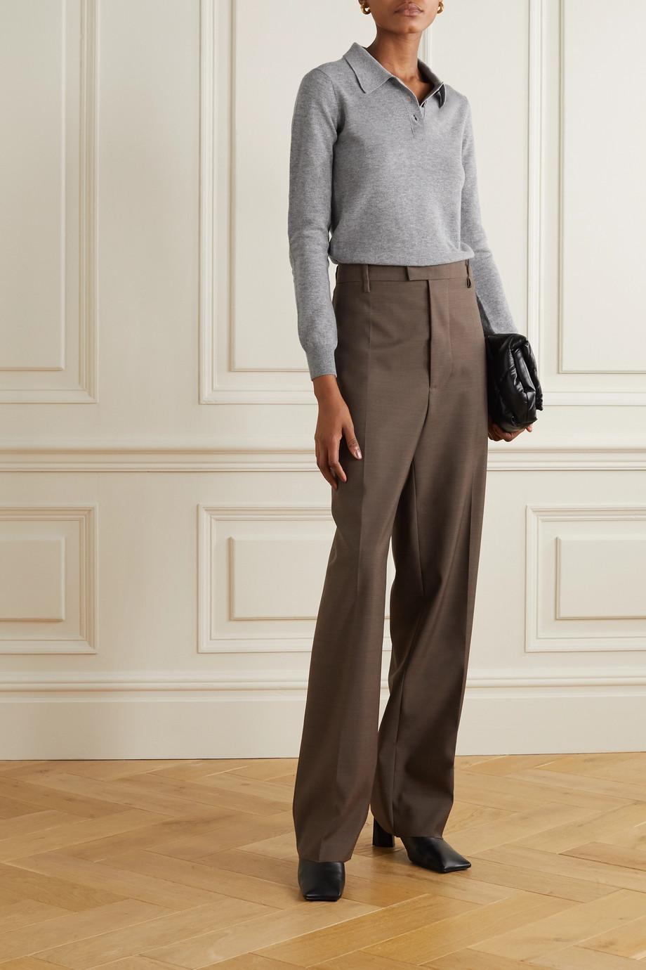 Maison Margiela Embroidered wool polo shirt