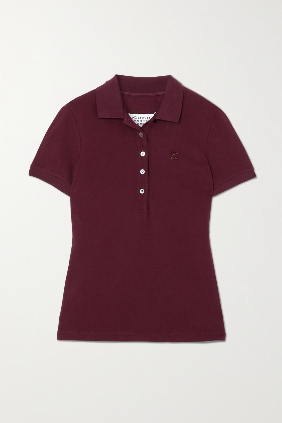 Maison Margiela Embroidered cotton-piqué polo shirt