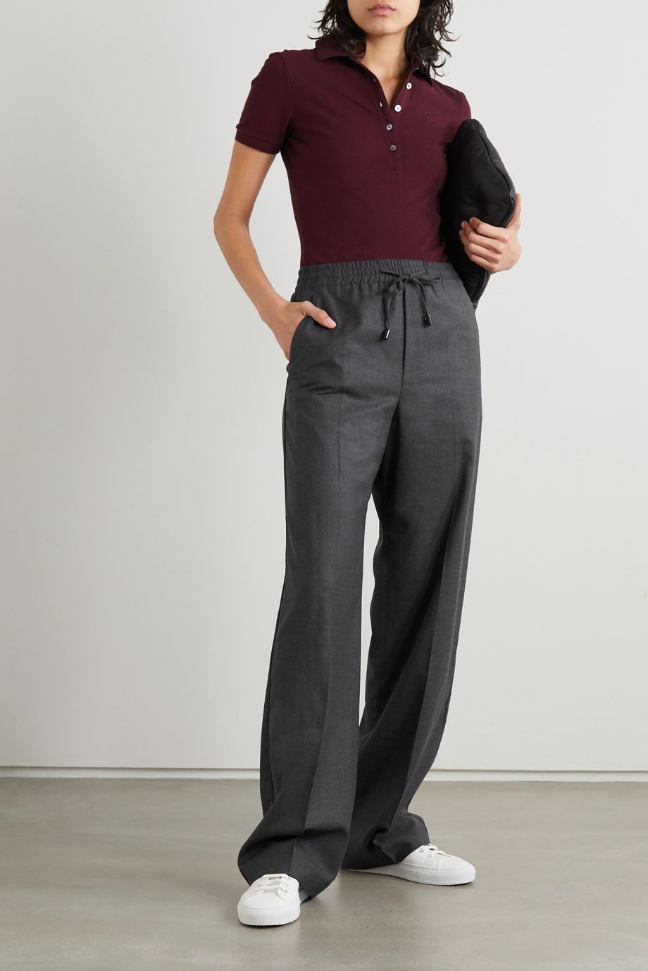 Maison Margiela 羊毛混纺法兰绒阔腿裤
