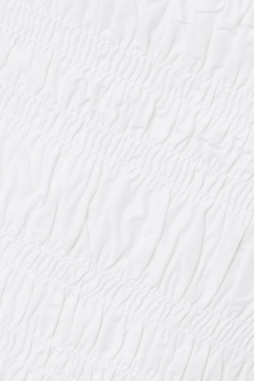 GANNI Oberteil aus Baumwollpopeline mit Raffungen