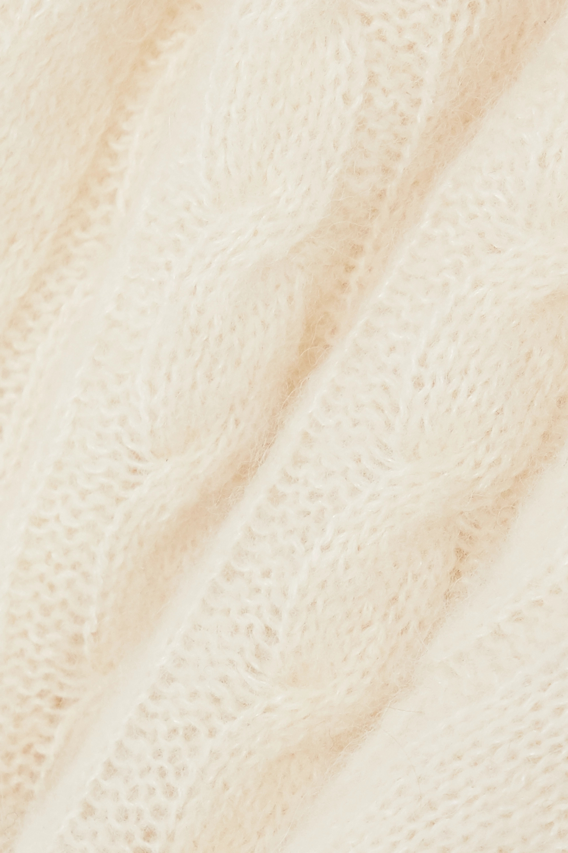 GANNI Cutout cable-knit alpaca-blend sweater