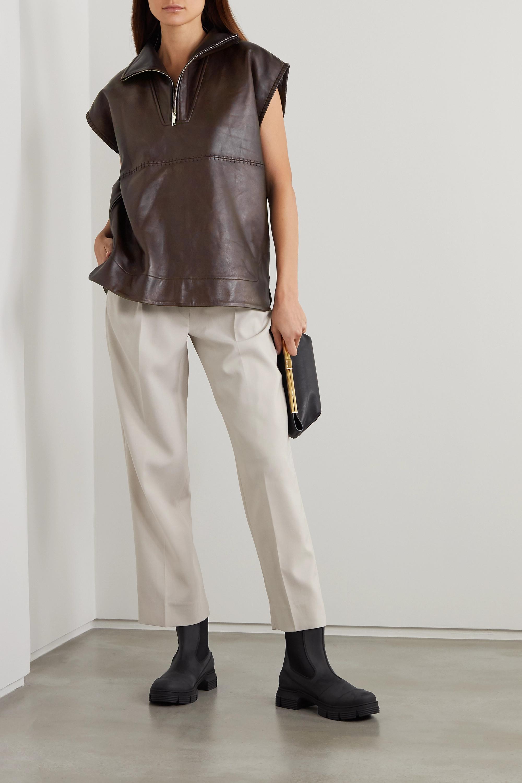 GANNI Paneled leather top
