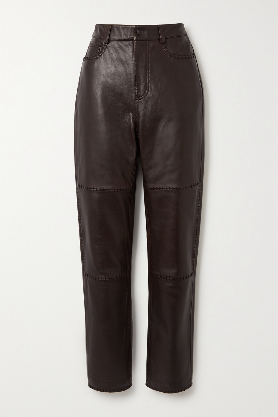 GANNI Hose aus Leder mit geradem Bein