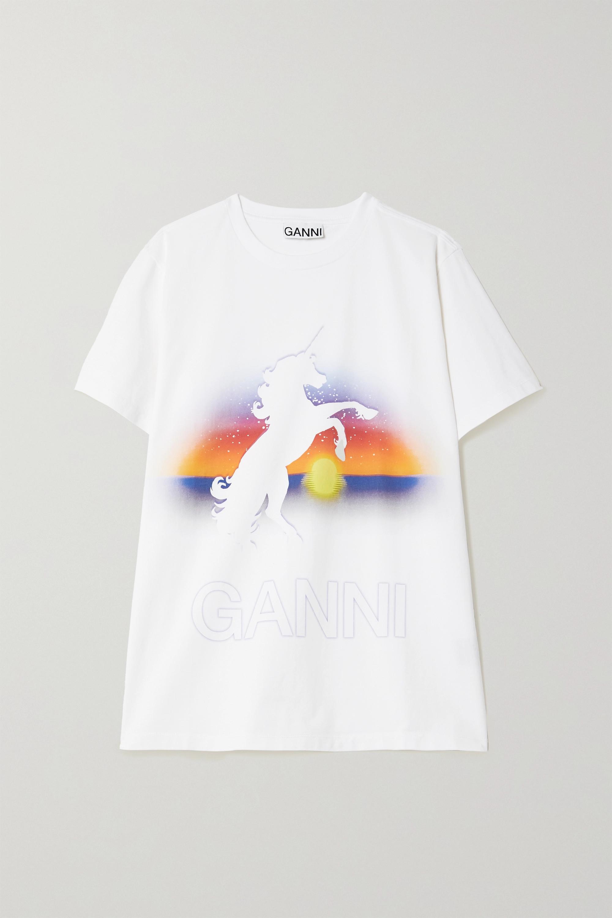 GANNI T-Shirt aus Biobaumwoll-Jersey mit Print