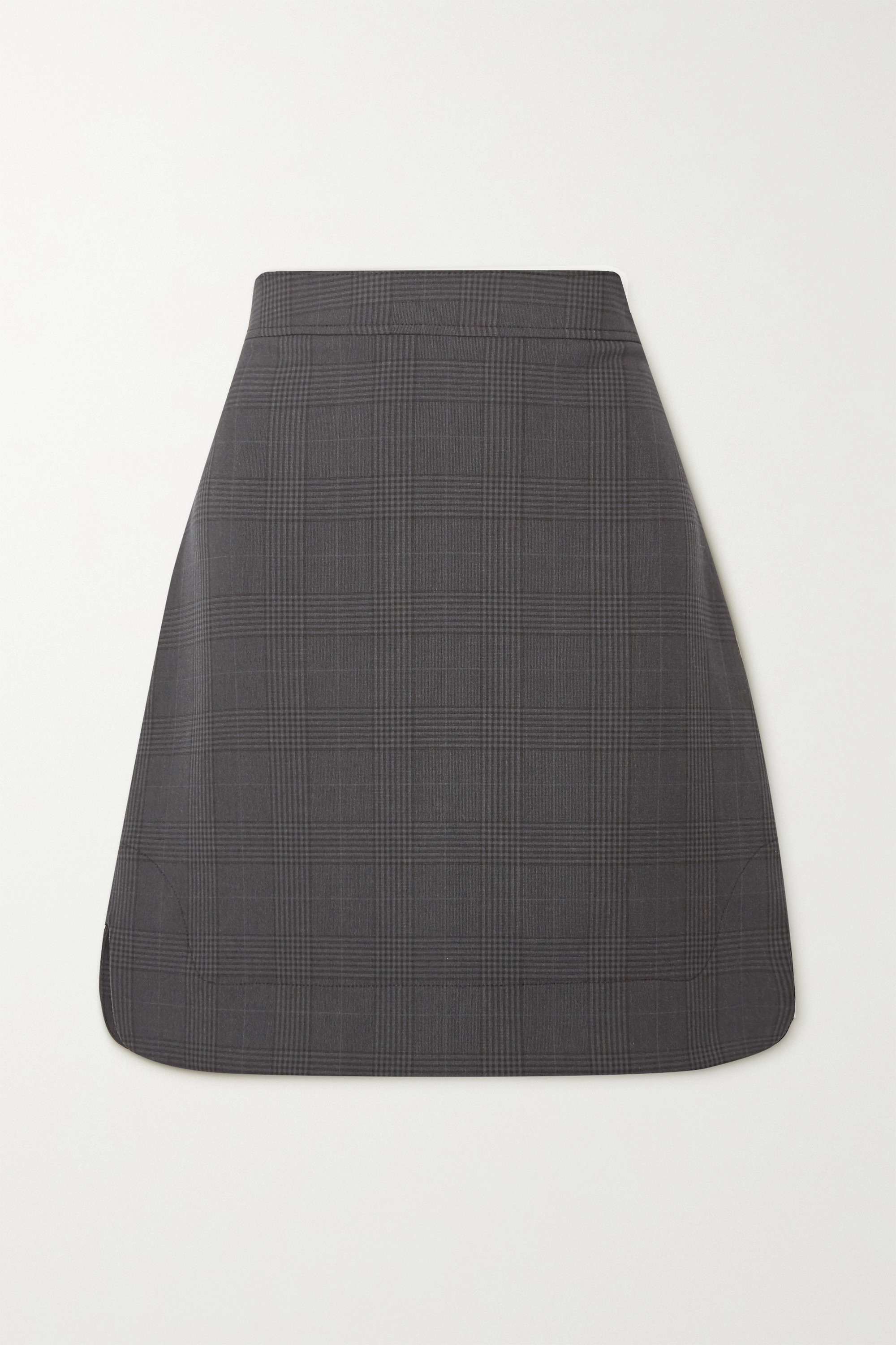GANNI + NET SUSTAIN Princes of Wales checked woven mini skirt