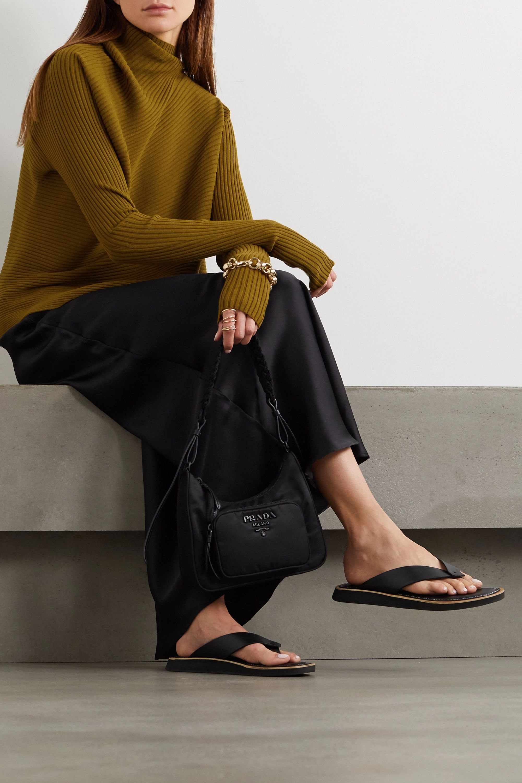 Marques' Almeida Asymmetric draped ribbed-knit sweater
