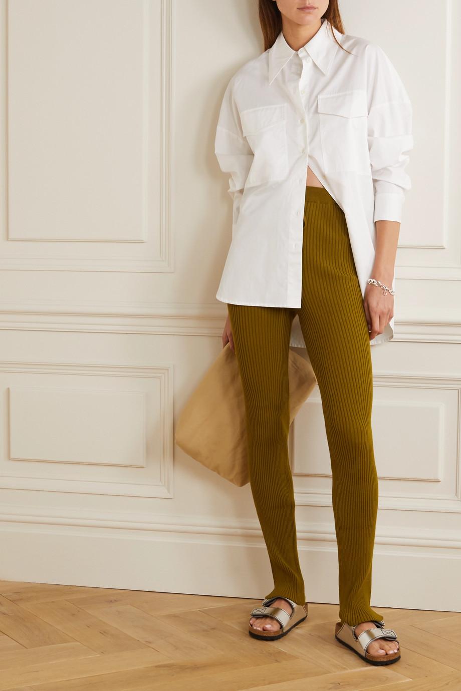 Marques' Almeida Ribbed-knit slim-leg pants