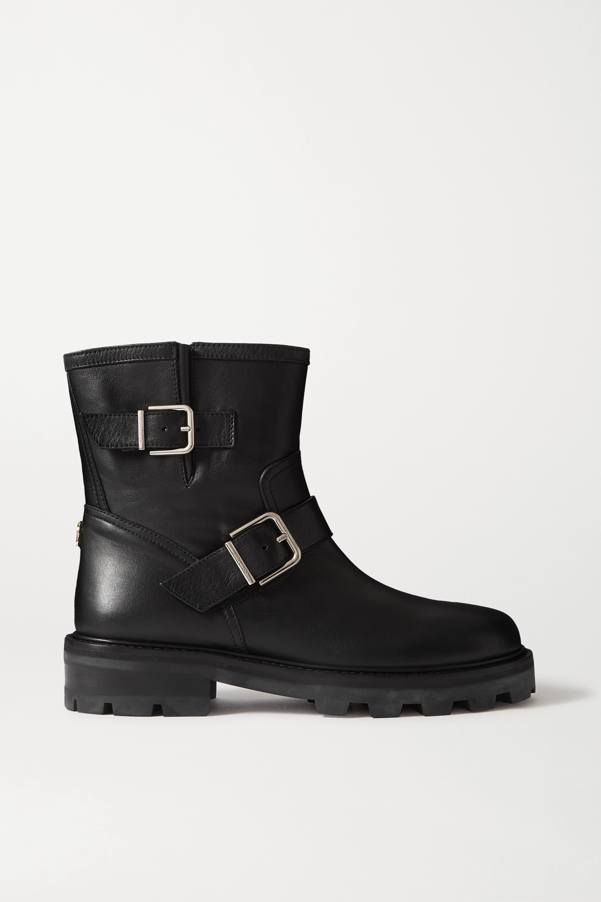 Jimmy Choo Youth II buckled leather ankle boots